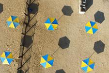 Песчаный пляж в Феодосии